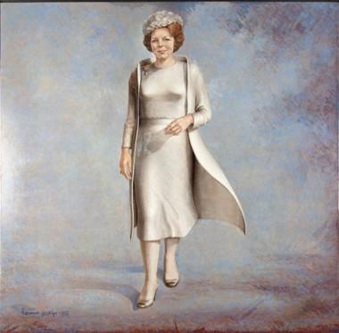 Portret Beatrix door Herman Gordijn