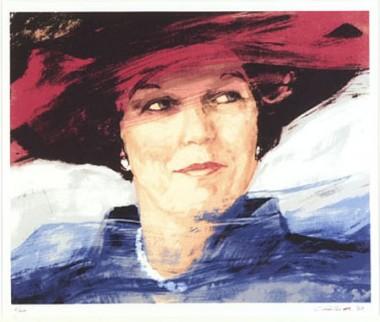 Portret Beatrix door Carla Rodenberg