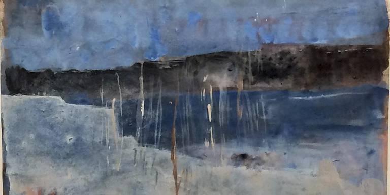 Annemarie Timmer: IJsmeer (2018) acrylverf