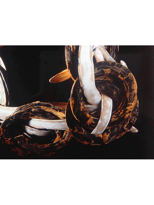 collier<br>detail acrylverf op hout / 1989 -1990