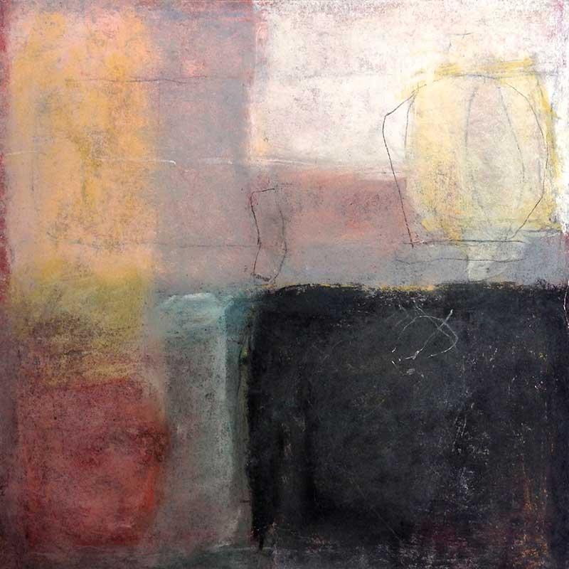 pastelkrijt op papier /  2011 - 2012<br>25 x 25 cm