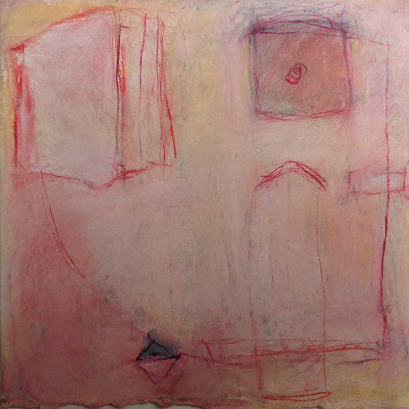 pastelkrijt op papier /  2012 - 2013<br>20 x 20 cm