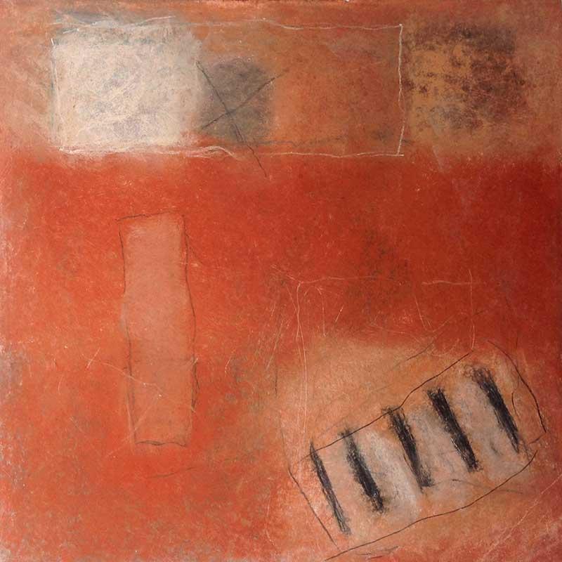 pastelkrijt op papier /  2010<br>20 x 20 cm